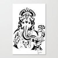 ganesh Canvas Prints featuring Ganesh by ShivaR