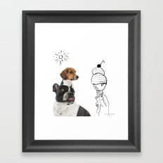 Juno and Ari ice-cream  Framed Art Print