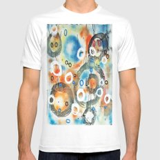 UNTITLED4 White SMALL Mens Fitted Tee