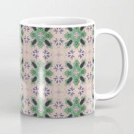 Vintage tiles faded rose and green Coffee Mug