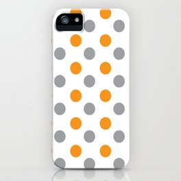 YELLOW AND GRAY DOTS Abstract Art iPhone Case