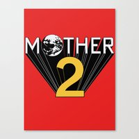 earthbound Canvas Prints featuring Mother 2 / Earthbound Promo by Studio Momo╰༼ ಠ益ಠ ༽