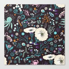 Subsea floral pattern Canvas Print