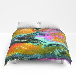 Abstract ORANGE Comforters