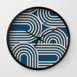 Abstraction_WAVE_GRAPHIC_VISUAL_ART_Minimalism_001 Wall Clock