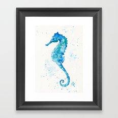 Sailing Along (Seahorse) Framed Art Print