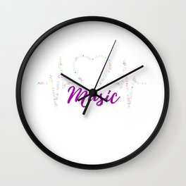 Musician Musical Instrument and Music Notes Wall Clock
