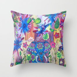 Live Gently Upon This Earth Throw Pillow