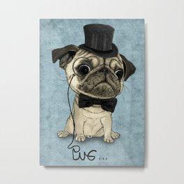 Pug; Gentle Pug (v3) Metal Print