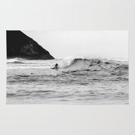 Black and White Surfer Print Rug