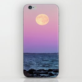 Full Moon on Blue Hour iPhone Skin