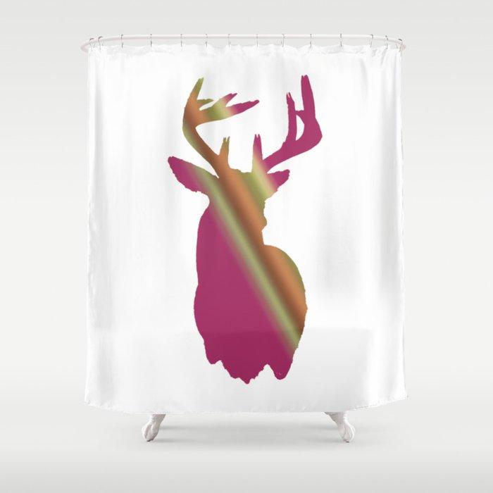 Girly Buck Shower Curtain