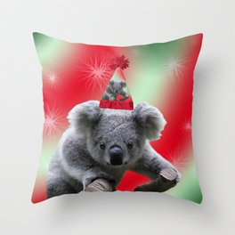 Christmas Koala Throw Pillow