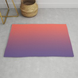 Living Coral Ultra Violet Gradient Pattern Rug