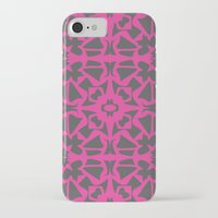 gray pattern iPhone & iPod Cases featuring Magenta Gray pattern by xiari