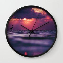Maldivian sunset 8 Wall Clock