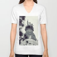 madrid V-neck T-shirts featuring Madrid by Valkyries