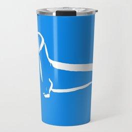 Little Turquoise Dachshund Travel Mug
