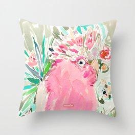 ROSITA the Galah Cockatoo Throw Pillow