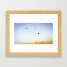 On the beach Portugal Framed Art Print