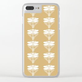 Putty Arts and Crafts Dragonflies Clear iPhone Case