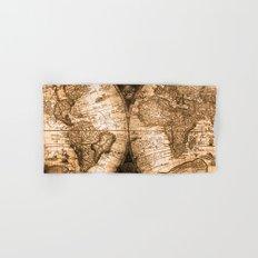 World Map Antique Vintage Brown Beige Sepia Globe Astrology Star Maps Hand & Bath Towel