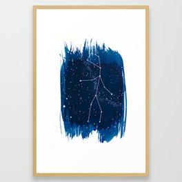 Virgo Zodiac Print Framed Art Print