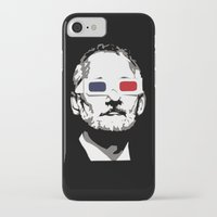 bill murray iPhone & iPod Cases featuring Bill Murray 3D by Spyck