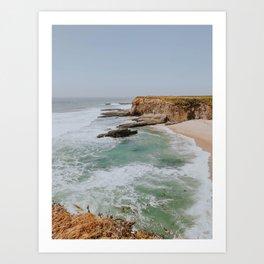 california coast ii / santa cruz Art Print