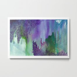purple and green painting Metal Print