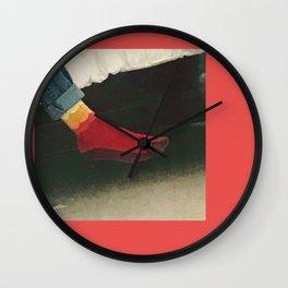 afoot Wall Clock
