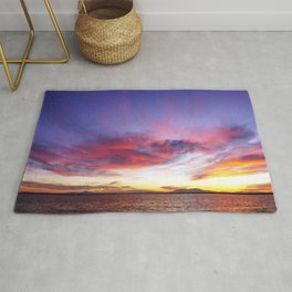 breathtaking sunset Rug