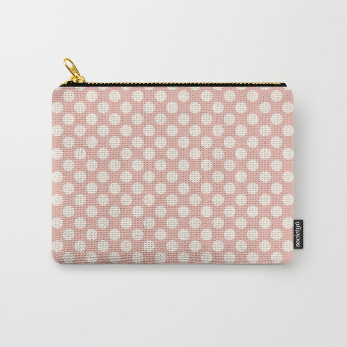Polka dot dance on pink I -Polka dots pattern Carry-All Pouch