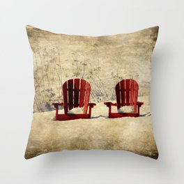 Wanting Spring So Throw Pillow