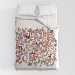 Chicken mess Comforters