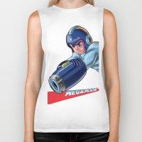 megaman Biker Tanks featuring Megaman Fanart by avimHarZ
