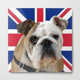 union jack bulldog Metal Print