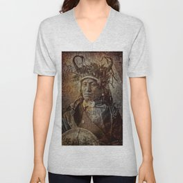 Assiniboine Chief Unisex V-Neck