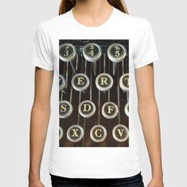 'Qwerty' Typewriter Keys Photo T-shirt