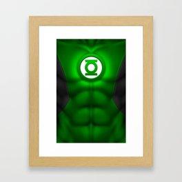 Green Lantern: Superhero Art Framed Art Print