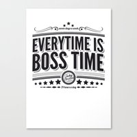 springsteen Canvas Prints featuring Every time is Boss time (Springsteen tribute) by My Brave Face