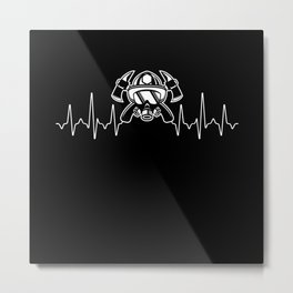 Firefighters Heartbeat Metal Print