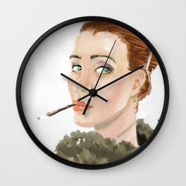 Sexy gangsta woman Wall Clock