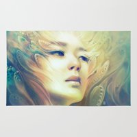 crown Area & Throw Rugs featuring Crown by Anna Dittmann