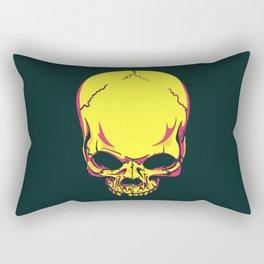 neon skull. Rectangular Pillow