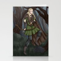 legolas Stationery Cards featuring Legolas of Mirkwood by Kimberlyn Curtis Artistry