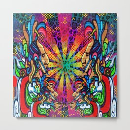 Aztecnique Metal Print