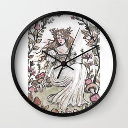 Fairy Ring Maiden Wall Clock