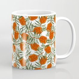 Bottlebrush Flower - White Coffee Mug