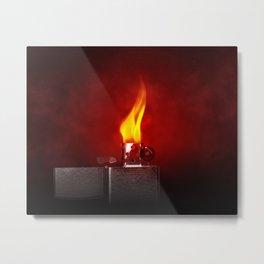 Red Lighter Metal Print